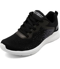 tenis lifestyle negro-gris-blanco skechers bobs sport