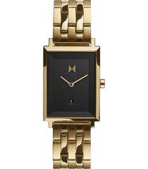 reloj análogo dorado mvmt