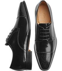 giovacchini mike black cap toe derby dress shoes