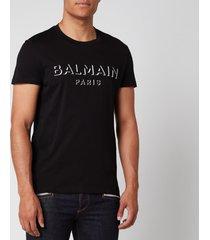 balmain men's 3d logo t-shirt - black - s