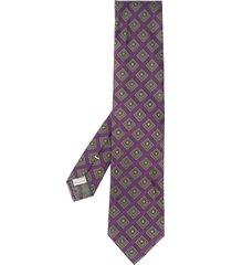 canali geometric pointed-tip tie - purple