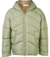 random identities oversized quilted jacket - green
