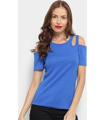 blusa top moda open shoulder feminina