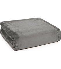 cobertor casal piemontesi cinza escuro trussardi - pronta entrega