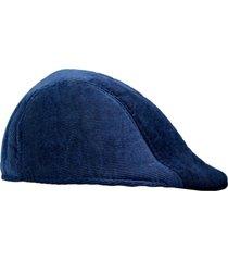 boina chapelaria vintage - velvet - azul