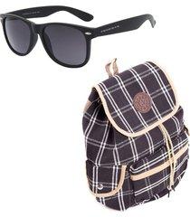 kit bolsa com óculos de sol teen prorider - kitboloc4