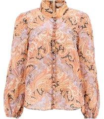 zimmermann botanica chevron paisley ramie shirt