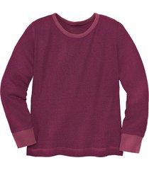 shirt met lange mouw van bourette zijde, bordeaux 134/140