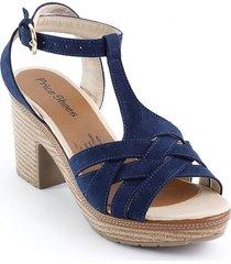 calzado tacon para dama 882angelaazul