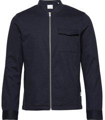 superflex knitted overshirt overshirts blauw lindbergh