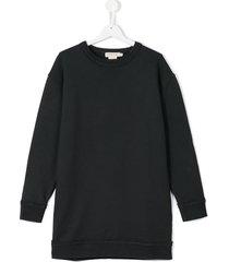 andorine teen frayed sweatshirt dress - grey