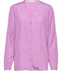 angelina top blouse lange mouwen roze modström