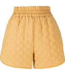fendi diamond quilted shorts - yellow