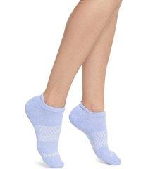 women's bombas marled ankle socks, size medium - purple