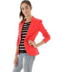 blazer aha básico algodão acetinado liso vermelho