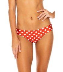 women's luli fama ruched back bikini bottoms, size x-small - red