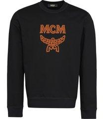 mcm logo detail cotton sweatshirt