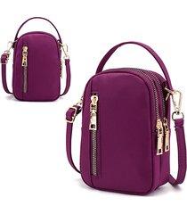 donna nylon borsa impermeabile per telefono con tracolla multiscivolo borsa vita borsa