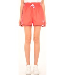 stella mccartney orange sports shorts