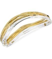 robert lee morris soho two-tone bangle bracelet set