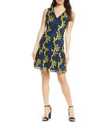 women's sam edelman embroidered sleeveless mesh a-line dress