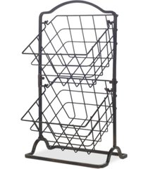 gourmet basics by mikasa general store 2-tier hanging basket