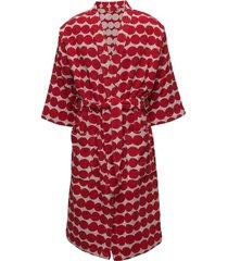 räsymatto bathrobe morgonrock röd marimekko home