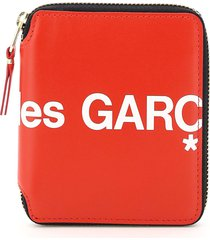 comme des garçons wallet zip-around huge logo wallet