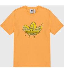 camiseta naranja-amarillo adidas originals lemon triofilo