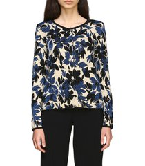 boutique moschino sweater boutique moschino cardigan with lurex flowers