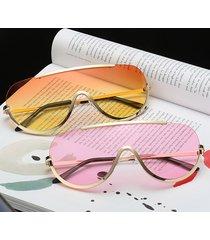 oversize clear lente uv400 occhiali da sole one lente half frame sun occhiali per donna e uomo