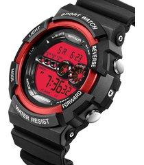 reloj deportivo digital militar sanda 320 hombre rojo