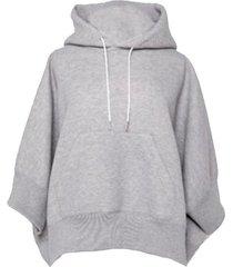 crop sleeve hoodie sweatshirt