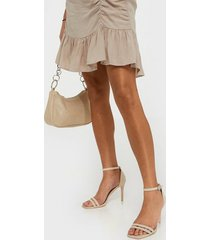nly shoes round buckle heel sandal high heel beige