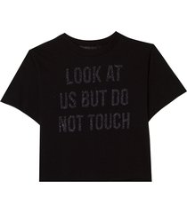 t shirt look at us (preto, gg)