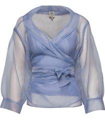 milou blouse lange mouwen blauw baum und pferdgarten