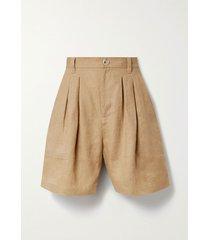 poe pleated hemp shorts