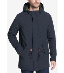 levi's men's long hooded parka jacket, created for macy's