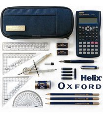 helix oxford - advanced school pencil case set - mathematics edition