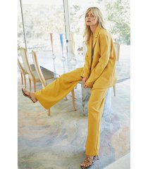 womens suits you wide-leg pants - mustard