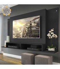 """painel com suporte para tv atã© 60"""" tã³kio multimã³veis preto - incolor - dafiti"""