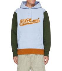 colourblock varsity hoodie