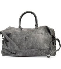 bolso de viaje bolsillo gris mailea
