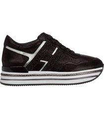 scarpe sneakers donna in pelle midi h222