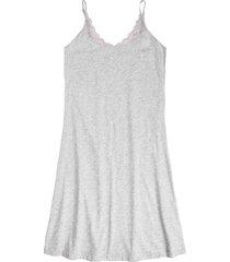 camicia da notte in cotone biologico con spalline sottili (grigio) - bpc bonprix collection