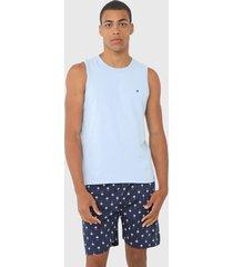 pijama malwee liberta tropical azul