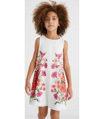 short dress swiss embroidery - white - 7/8