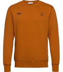 hugh sweatshirt sweat-shirt tröja orange wood wood