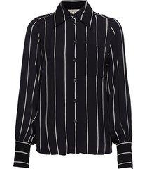 my shirt blouse lange mouwen zwart twist & tango