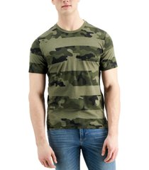 sun + stone men's multi-striped t-shirt, created for macy's